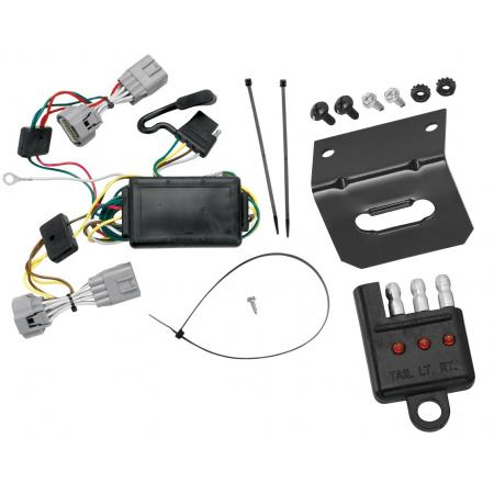 Trailer Wiring and Bracket and Light Tester For 05-06 Jeep Grand Cherokee All Styles 4-Flat Harness Plug Play