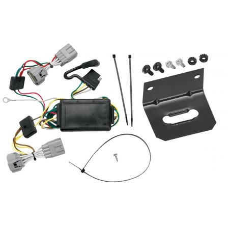Trailer Wiring and Bracket For 05-06 Jeep Grand Cherokee All Styles 4-Flat Harness Plug Play