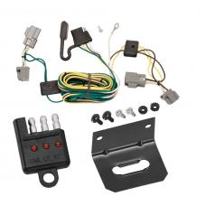 Trailer Wiring and Bracket and Light Tester For 05-07 Ford Five Hundred Freestyle All Styles 4-Flat Harness Plug Play