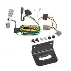 Trailer Wiring and Bracket For 05-07 Ford Five Hundred Freestyle All Styles 4-Flat Harness Plug Play