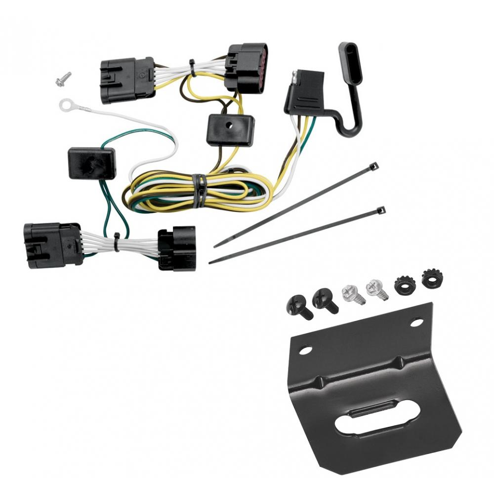 [SCHEMATICS_44OR]  Trailer Wiring and Bracket For 05-08 Chevy Uplander 05-07 Buick Terraza  Saturn Relay 05-06 Pontiac Montana 4-Flat Harness Plug Play | Chevy Trailer Wiring Connector |  | TrailerJacks.com