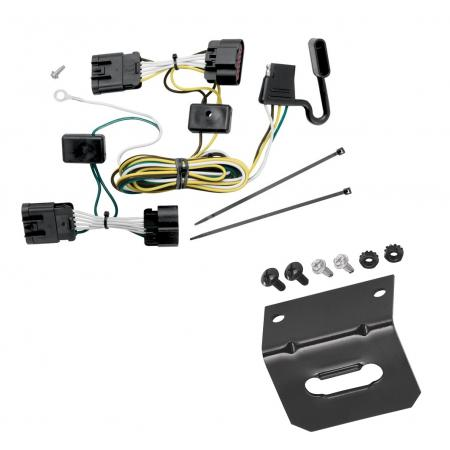 Trailer Wiring and Bracket For 05-08 Chevy Uplander 05-07 Buick Terraza Saturn Relay 05-06 Pontiac Montana 4-Flat Harness Plug Play