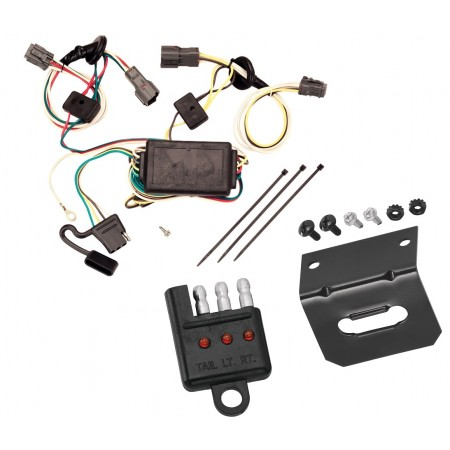 Trailer Wiring and Bracket and Light Tester For 05-09 Hyundai Tucson All Styles 4-Flat Harness Plug Play