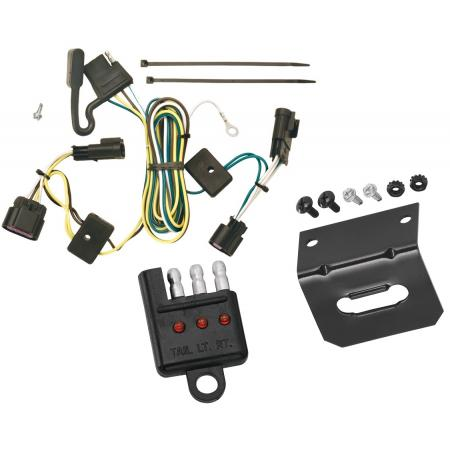 Trailer Wiring and Bracket and Light Tester For 05-10 Chevy Cobalt 4 Door Inc. SS Sport 05-06 Pontiac Pursuit 4-Flat Harness Plug Play
