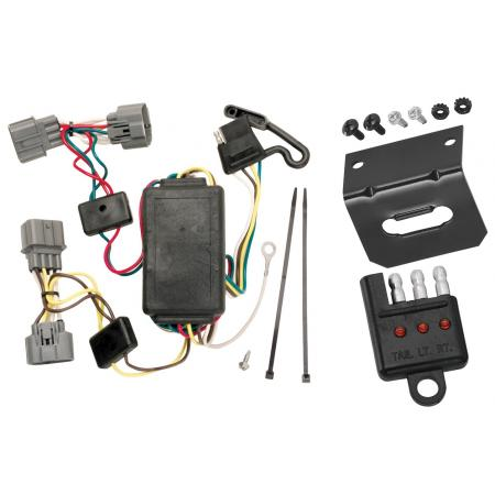 Trailer Wiring and Bracket and Light Tester For 06-08 Honda Ridgeline All Styles 4-Flat Harness Plug Play