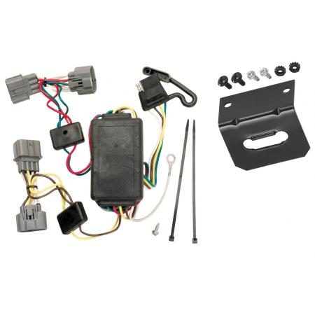 Trailer Wiring and Bracket For 06-08 Honda Ridgeline All Styles 4-Flat Harness Plug Play