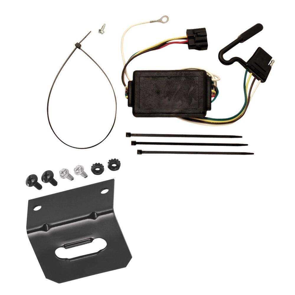 trailer wiring and bracket for 05-10 kia sportage 6 cyl. plug and play  4-flat harness plug play  trailerjacks.com