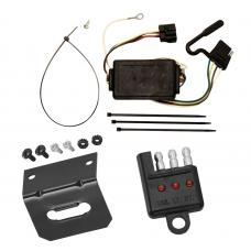 Trailer Wiring and Bracket and Light Tester For 05-10 KIA Sportage 6 Cyl. Plug and Play 4-Flat Harness Plug Play