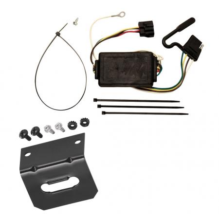 Trailer Wiring and Bracket For 05-10 KIA Sportage 6 Cyl. Plug and Play 4-Flat Harness Plug Play