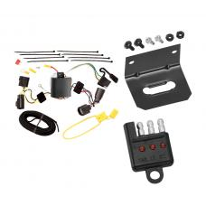 Trailer Wiring and Bracket and Light Tester For 05-08 Dodge Magnum All Styles 4-Flat Harness Plug Play