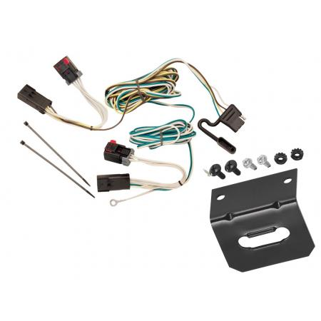 Trailer Wiring and Bracket For 05-07 Chrysler 300 08-14 Challenger 06-10 Charger 4-Flat Harness Plug Play