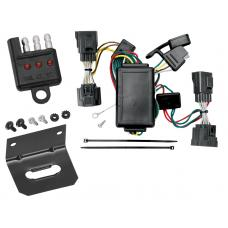 Trailer Wiring and Bracket and Light Tester For 06-10 Jeep Commander All Styles 4-Flat Harness Plug Play