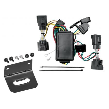 Trailer Wiring and Bracket For 06-10 Jeep Commander All Styles 4-Flat Harness Plug Play