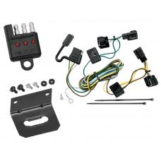 Trailer Wiring and Bracket and Light Tester For 98-06 Jeep Wrangler All Styles ( TJ Canada Only ) 4-Flat Harness Plug Play