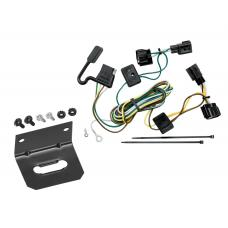 Trailer Wiring and Bracket For 98-06 Jeep Wrangler All Styles ( TJ Canada Only ) 4-Flat Harness Plug Play