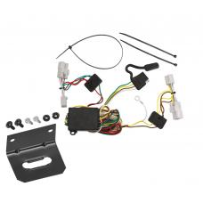Trailer Wiring and Bracket For 06-11 Hyundai Azera 01-07 Toyota Highlander Except Hybrid 4-Flat Harness Plug Play