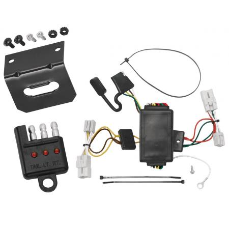 Trailer Wiring and Bracket and Light Tester For 04-06 Scion xB All Styles 4-Flat Harness Plug Play