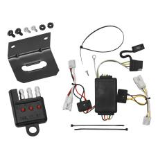 Trailer Wiring and Bracket and Light Tester For 07-12 Hyundai Santa Fe 10-13 KIA Forte 4 Dr. Sedan 4-Flat Harness Plug Play