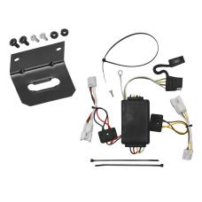 Trailer Wiring and Bracket For 07-12 Hyundai Santa Fe 10-13 KIA Forte 4 Dr. Sedan 4-Flat Harness Plug Play