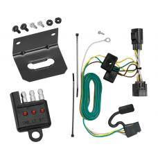 Trailer Wiring and Bracket and Light Tester For 07-18 Jeep Wrangler 4-Flat Harness Plug Play