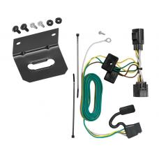 Trailer Wiring and Bracket For 07-18 Jeep Wrangler 4-Flat Harness Plug Play