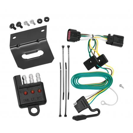 Trailer Wiring and Bracket and Light Tester For 06-13 Chevrolet Impala All Styles 4-Flat Harness Plug Play