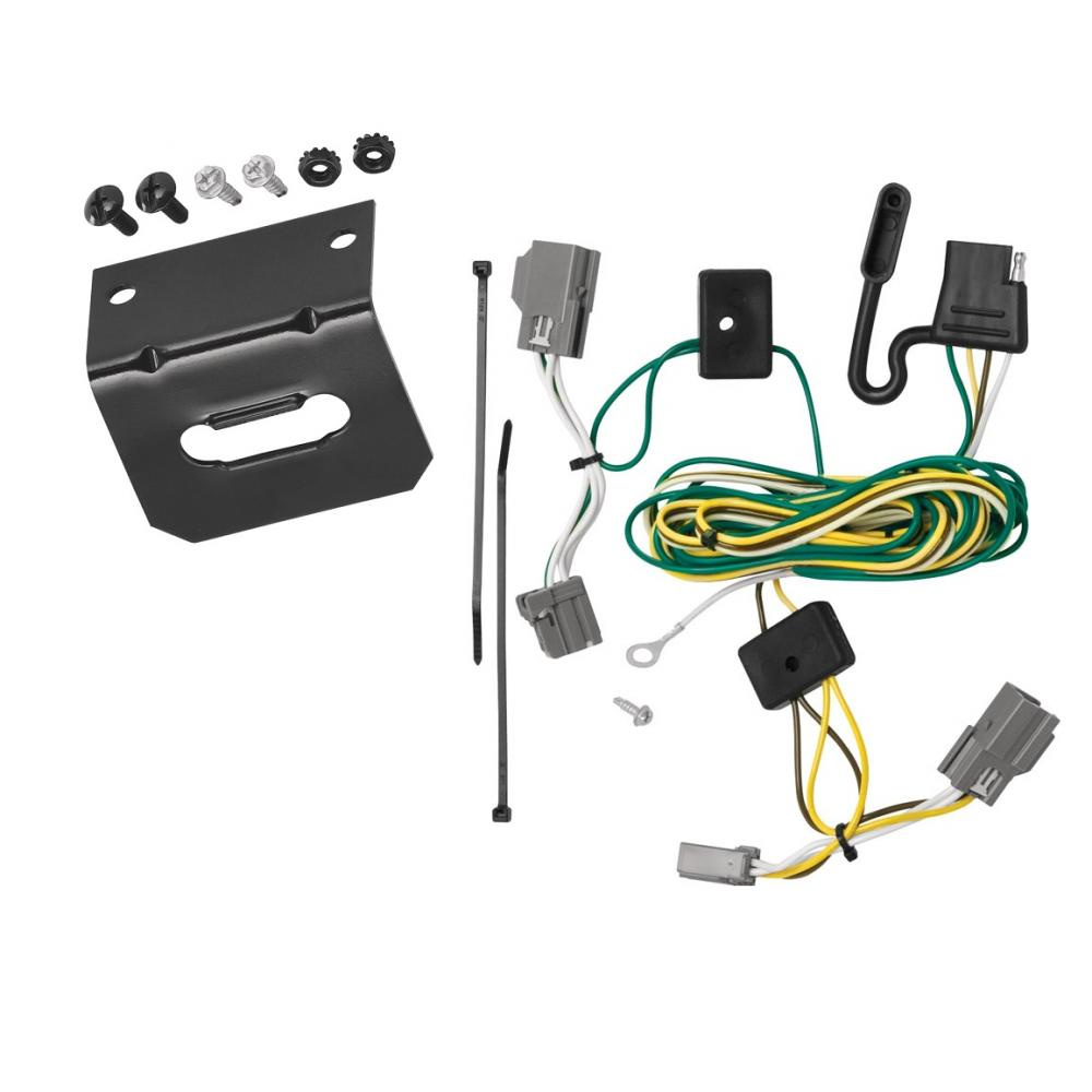 Trailer Wiring and Bracket For 06-11 Buick Lucerne All Styles 4-Flat Harness  Plug PlayTrailerJacks.com