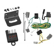 Trailer Wiring and Bracket and Light Tester For 06-11 Buick Lucerne All Styles 4-Flat Harness Plug Play