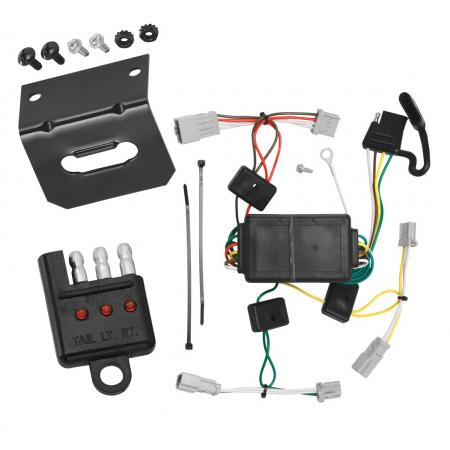 Trailer Wiring and Bracket and Light Tester For 09-14 Acura TSX 08-12 Honda Accord 06-15 Civic 07-13 Fit 04-13 Mazda 3 07-12 Mitsubishi Galant 4-Flat Harness Plug Play