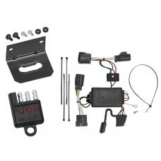 Trailer Wiring and Bracket and Light Tester for 2007 Dodge Nitro 4-Flat Harness Plug Play