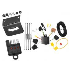 Trailer Wiring and Bracket and Light Tester For 11-13 Ford Fiesta 4 Dr. Sedan 06-12 Fusion 4-Flat Harness Plug Play