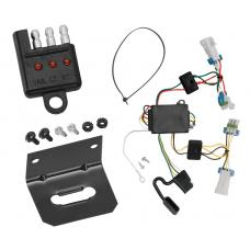 Trailer Wiring and Bracket and Light Tester For 07-09 Saturn Aura All Styles 4-Flat Harness Plug Play