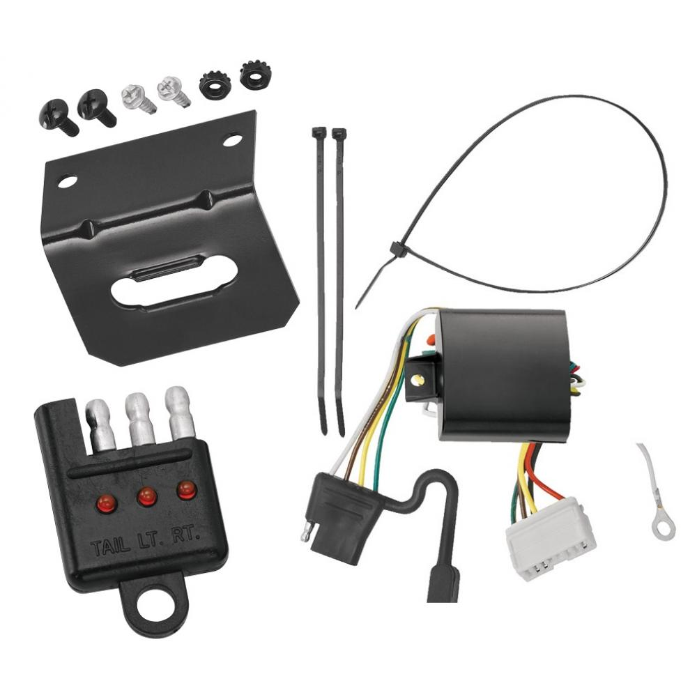Trailer Wiring And Bracket And Light Tester For 07-13
