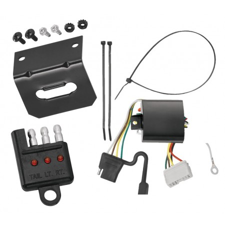 Trailer Wiring and Bracket and Light Tester For 07-13 Acura MDX All Styles 4-Flat Harness Plug Play