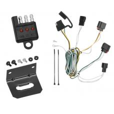 Trailer Wiring and Bracket and Light Tester For 07-13 Jeep Grand Cherokee All Styles 4-Flat Harness Plug Play