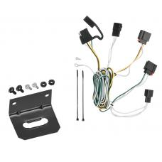 Trailer Wiring and Bracket For 07-13 Jeep Grand Cherokee All Styles 4-Flat Harness Plug Play