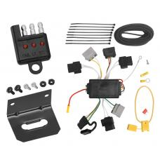 Trailer Wiring and Bracket and Light Tester For 05-07 Ford Escape 05-06 Mazda Tribute All Styles 4-Flat Harness Plug Play