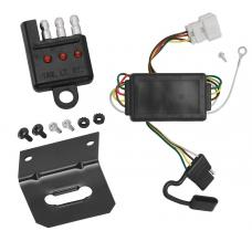 Trailer Wiring and Bracket and Light Tester For 07-11 Honda CR-V All Styles 4-Flat Harness Plug Play