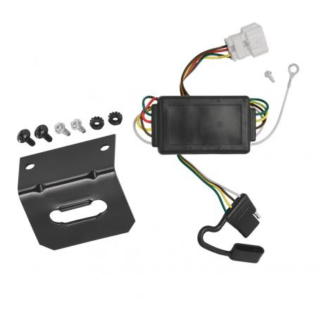 Trailer Wiring and Bracket For 07-11 Honda CR-V All Styles 4-Flat Harness Plug Play