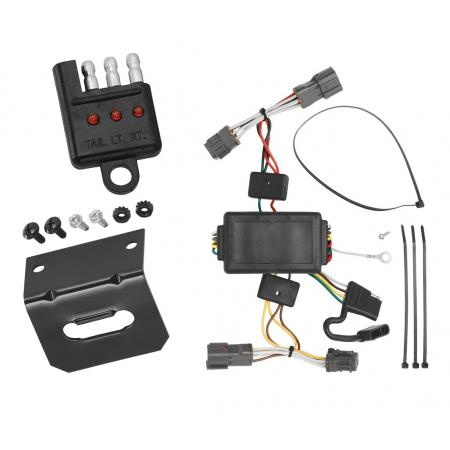 Trailer Wiring and Bracket and Light Tester For 07-12 KIA Rondo 10-18 Soul without LED Taillights 4-Flat Harness Plug Play