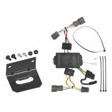 Trailer Wiring and Bracket For 07-12 KIA Rondo 10-18 Soul without LED Taillights 4-Flat Harness Plug Play