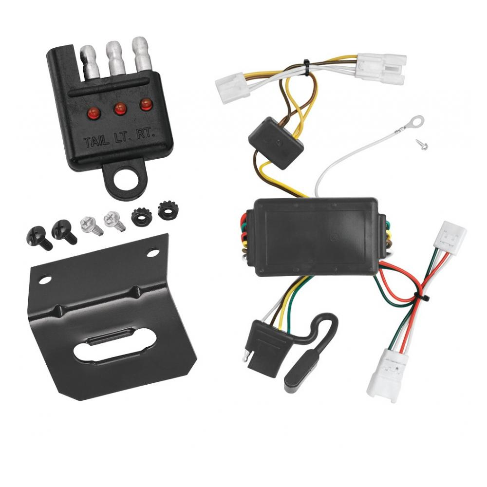 Trailer Wiring and cket and Light Tester For 07-10 Hyundai Elantra on