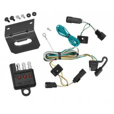 Trailer Wiring and Bracket and Light Tester For 07-09 Saturn Outlook All Styles 4-Flat Harness Plug Play