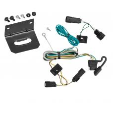 Trailer Wiring and Bracket For 07-09 Saturn Outlook All Styles 4-Flat Harness Plug Play