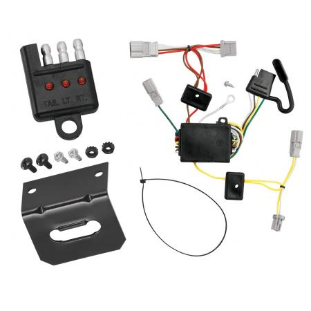 Trailer Wiring and Bracket and Light Tester For 06-07 Honda Accord 2 Dr. Coupe 4-Flat Harness Plug Play