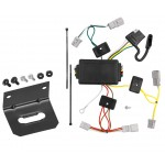 Trailer Wiring and Bracket For 06-15 Honda Civic 2 Dr. Coupe Except Si 4-Flat Harness Plug Play