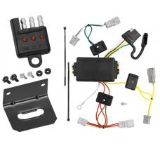 Trailer Wiring and Bracket and Light Tester For 06-15 Honda Civic 2 Dr. Coupe Except Si 4-Flat Harness Plug Play