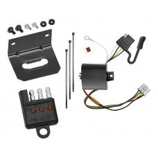 Trailer Wiring and Bracket and Light Tester For 05-10 Honda Odyssey All Styles 4-Flat Harness Plug Play