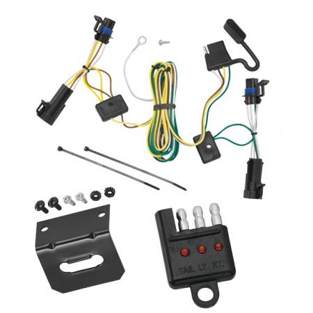 Trailer Wiring and Bracket and Light Tester For 04-07 Chevy Malibu LS LT Maxx 06-07 SS 2008 Classic 05-09 Pontiac G6 4-Flat Harness Plug Play