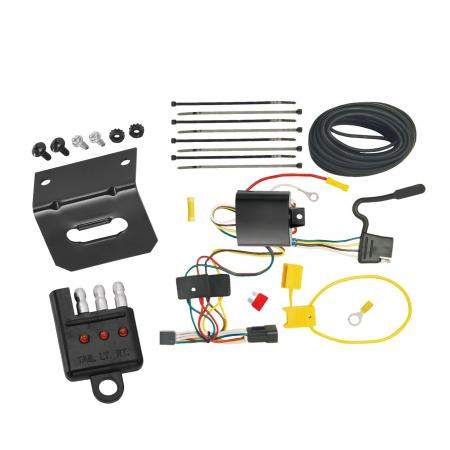 Trailer Wiring and Bracket and Light Tester For 03-07 Cadillac CTS 04-07 CTS V All Styles 4-Flat Harness Plug Play